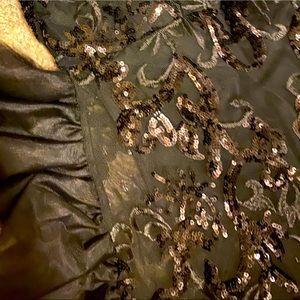 Fashion Nova Body suit with black lace sequins